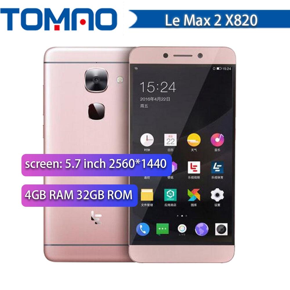 Original 5 7 Letv leEco Le Max 2 X820 4G LTE Mobile Phone 4GB RAM 32GB