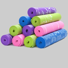6mm Thick Natural Rubber Yoga Mat Printed Nonslip Camping Pads Picnic Mat Lose Weight Body Building Exercise Gym Fitness Mat