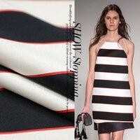 The Fall Of New High End Profile Heavy Silk Striped Silk Wool Fabric Fashion Fabric