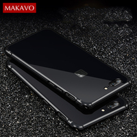 Luxury For Oneplus 5 Case 2 In 1 Slim Metal Frame Acrylic Back Cover One Plus