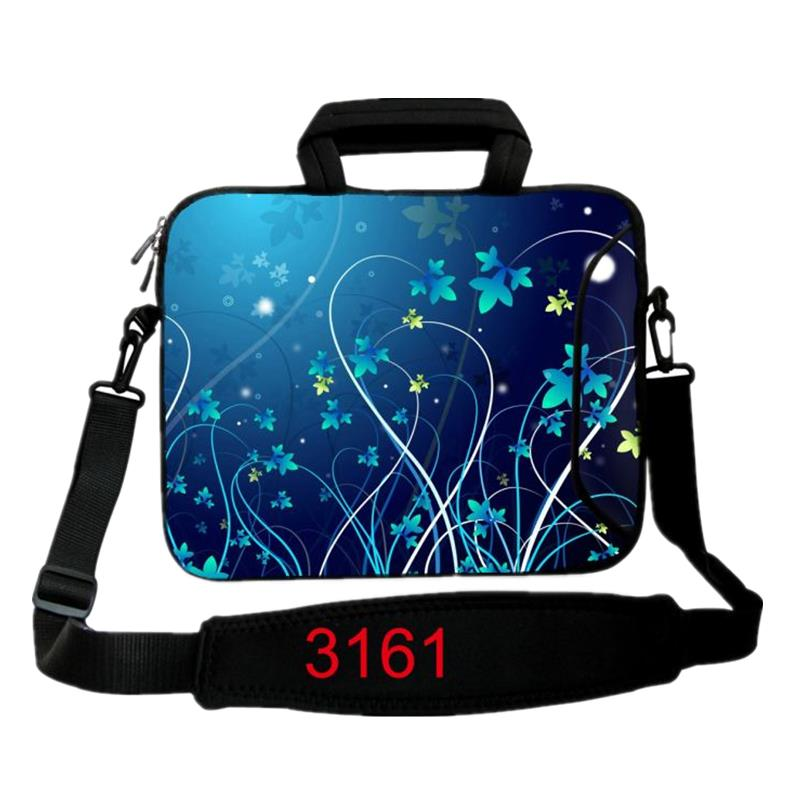 10 11.6 13.3 14 15.4 17.3 Flowers Neoprene Laptop Bag Carry Handle Cases Cover Sleeve Pouch For Dell Lenovo Acer Asus HP Envy X1
