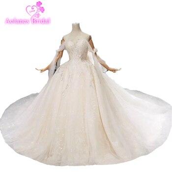 Romántico sin mangas de vestidos de boda de modas Sexy lentejuelas de vestidos de boda 2019 nuevo diseño vestido de novia