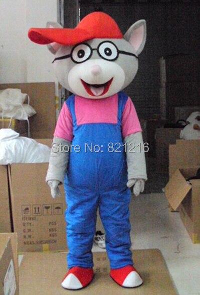 Lunettes, souris, gros chats bébé dessin animé personnage Costume Cosplay mascotte produits personnalisés mascotte Costumes