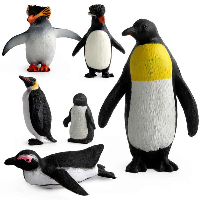 9 estilos Animal Dos Animais Selvagens O Imperador Pingüim PVC Modelo Toy Action Figure Collectible Boneca Figura Coleção Para Presente Das Crianças