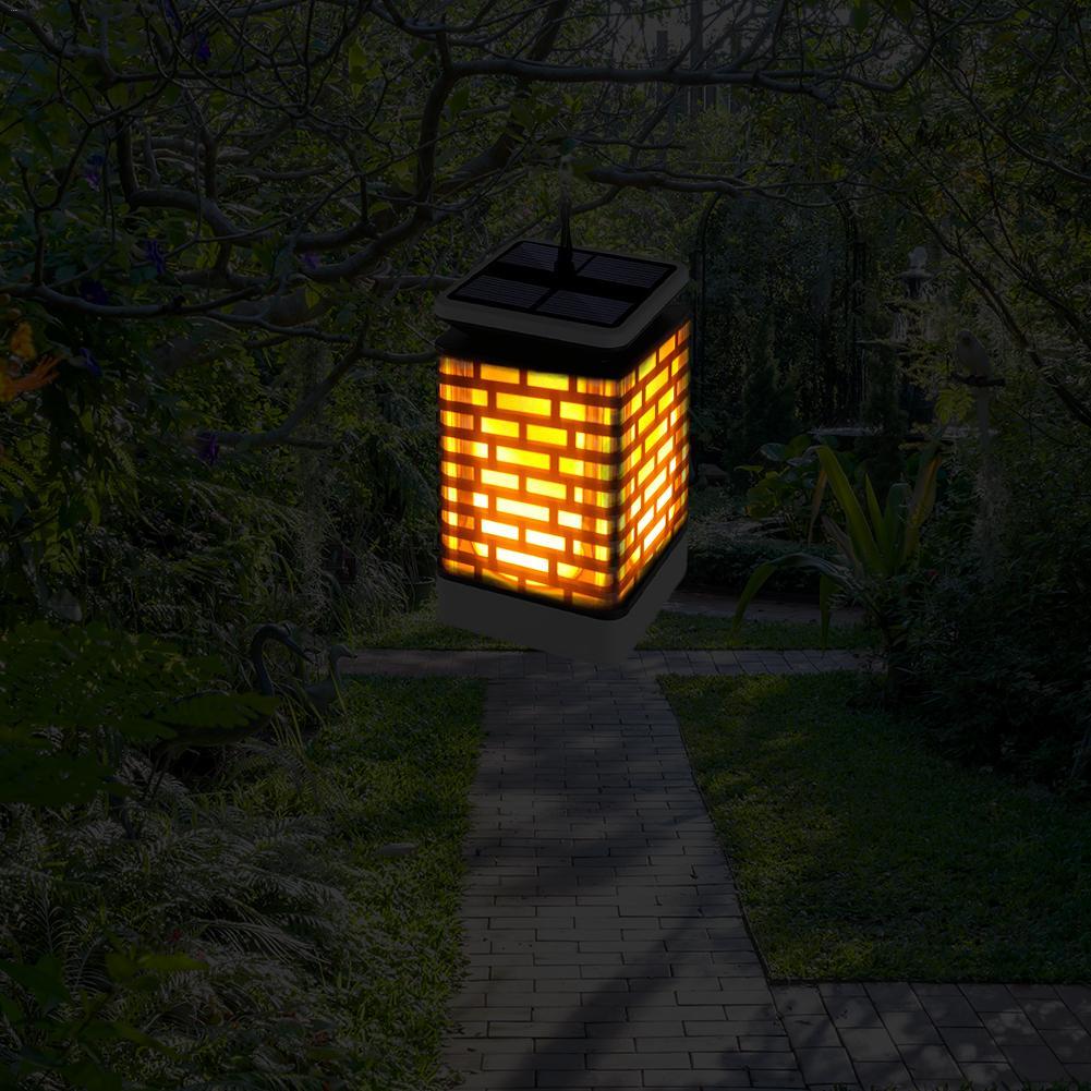 Waterproof Solar LED flame light blinking lawn lamp led solar hanging lanterns light outdoor garden decoration lighting ip65