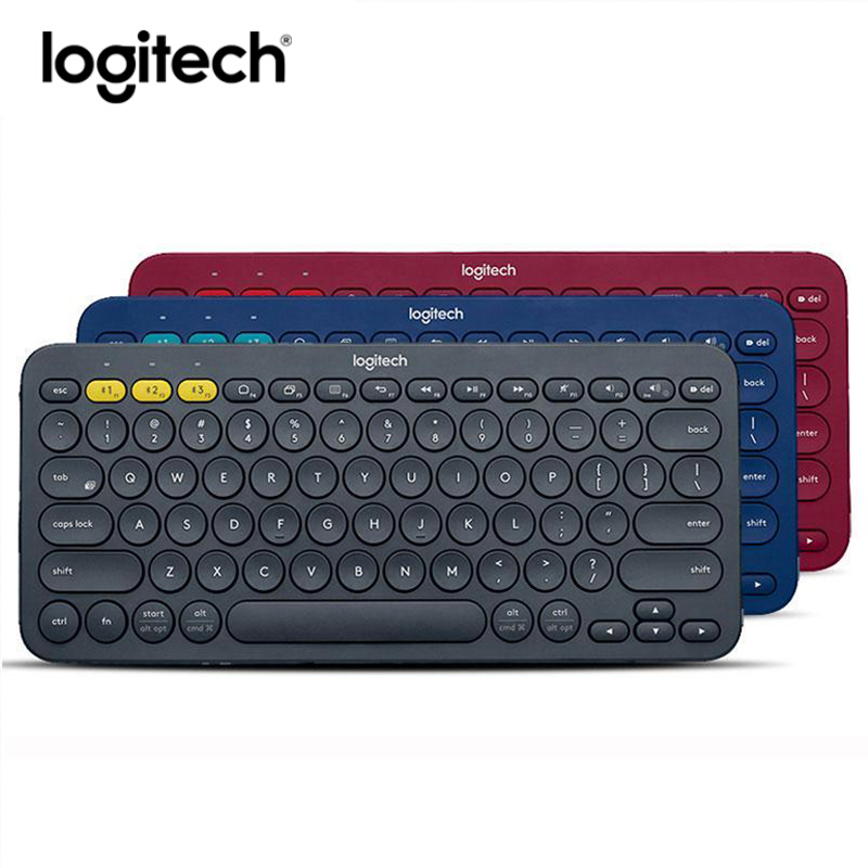 logitech k380 multi device wireless bluetooth keyboard protable keyboard for android apple phone. Black Bedroom Furniture Sets. Home Design Ideas