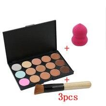 3pcs/set Professional Maquiagem Concealer Palette Makeup Par