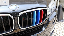 цена на For BMW X5 2014 X6 F16 2015 Car Styling Front Grille Grill cover molding trim 3 Pcs / Set
