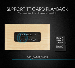 Image 5 - TOPROAD 나무 무선 블루투스 스피커 휴대용 HiFi 충격베이스 Altavoz TF caixa 드 som 사운드 바 아이폰 Sumsung Xiaomi