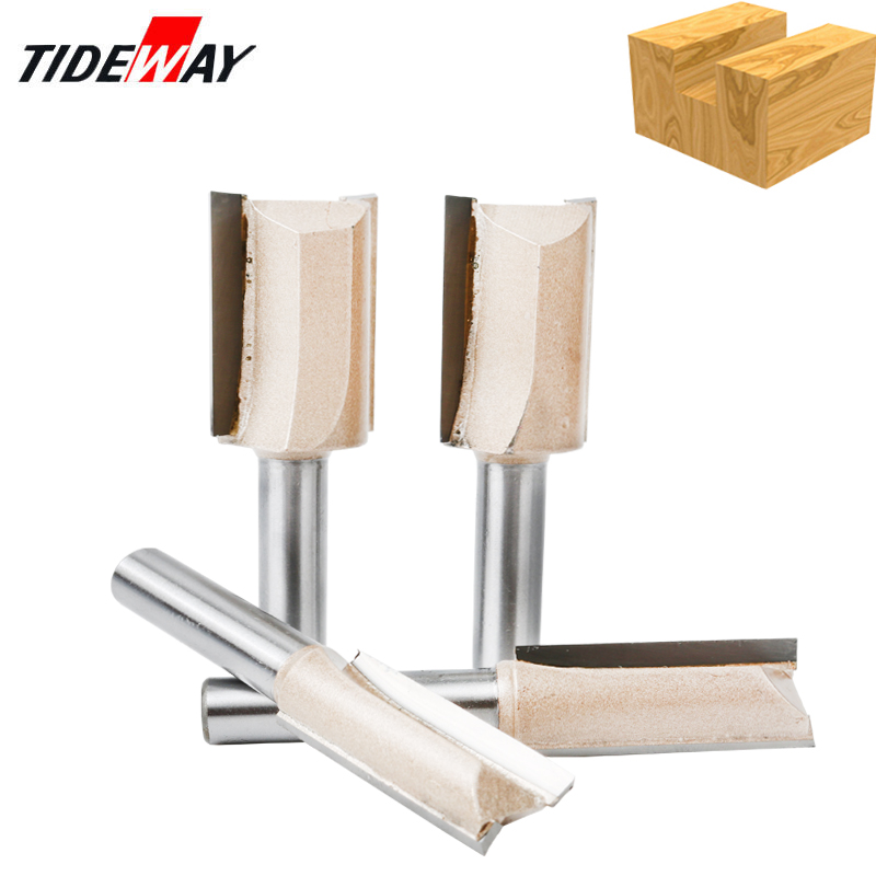 Tideway 8mm Shank Straight Bit Fresa Router Bits CNC Woodworking Tools ITungsten Carbide End Mill Milling Cutter For Wood