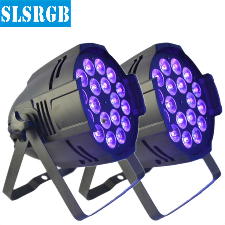 2PCS/LOT 18pcs 18w LED Par light 18X18W 6in1 RGBWA UV indoor light stage lighting/ 18pcs 6in1 led par DJ lighting