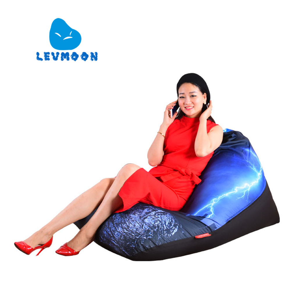 цены LEVMOON Beanbag Sofa Chair Thunder Seat Zac Comfort Bean Bag Bed Cover Without Filler Cotton Indoor Beanbag Lounge Chair Shell