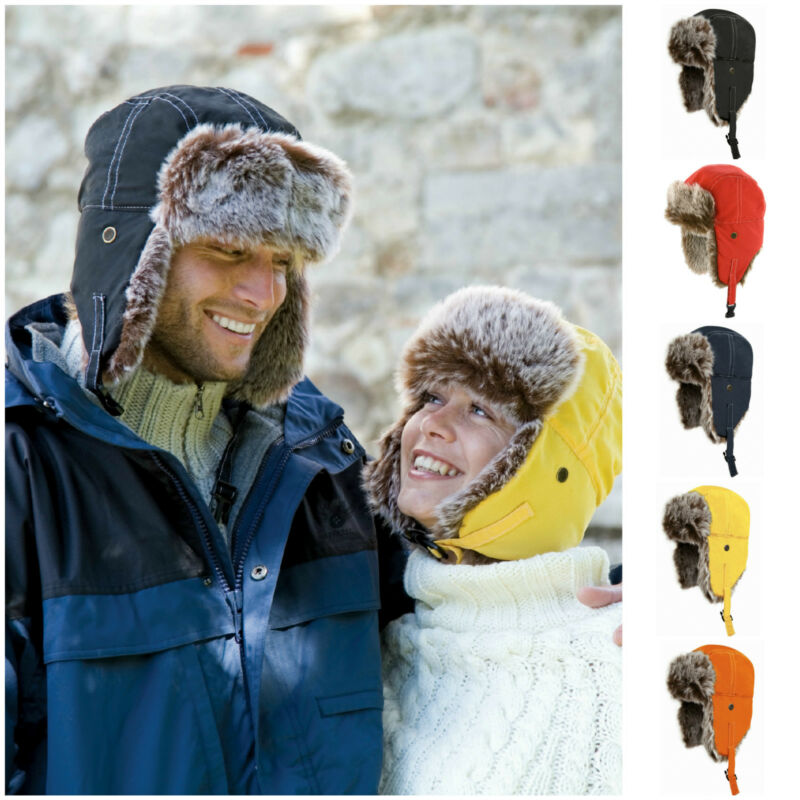Cap Bomber-Hats Russian Airman Ski-Hat Ear-Flaps Trooper Trapper Winter Women New Warm