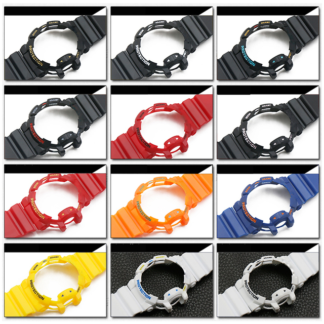 Acessórios de relógio 16mm pulseira de resina para casio gba/GA 400 preto G SHOCK caso pulseira de relógio de desporto masculino e feminino