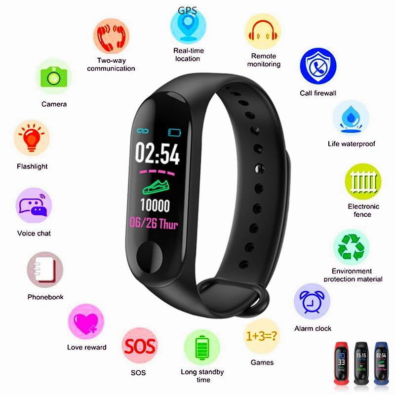 Das mulheres Dos Homens GINÁSIO De Medida Da Pressão Arterial Inteligente Relógio Relógio da Frequência Cardíaca Esportes Hora ECG Inteligente 5 em 1 Saúde pulseira Pulseira