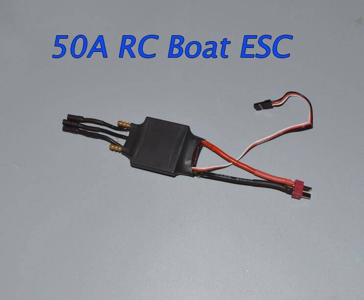 Free Shipping 50A RC Boat Regulator Brushless ESC Electric Speed Controller Two-way with Backwards Function Water Cooling ESC h625 rtr spike fiber glass electric racing speed boat deep vee rc boat w 3350kv brushless motor 90a esc remote control green
