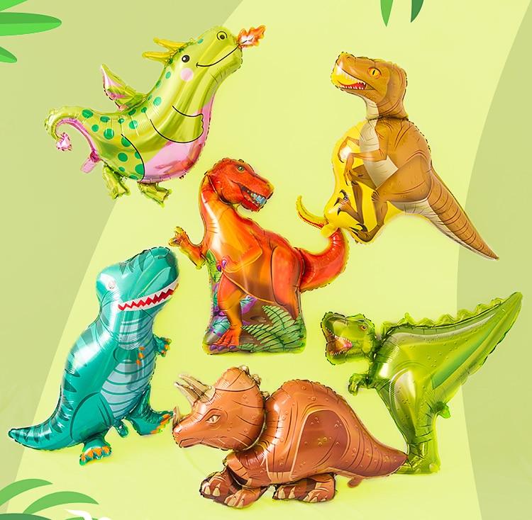 10pcs Tyrannosaurus raptors triceratops Jurassic dinosaur big size balloons boy' birthday party decor baby shower helium globos