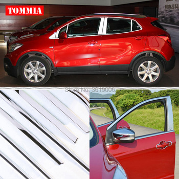 Tommia полное окно средний столб литья подоконник отделка Хромированная отделка для автомобиля полоски Нержавеющаясталь для Buick Encore 2013-2017 >> Car -Ou Store