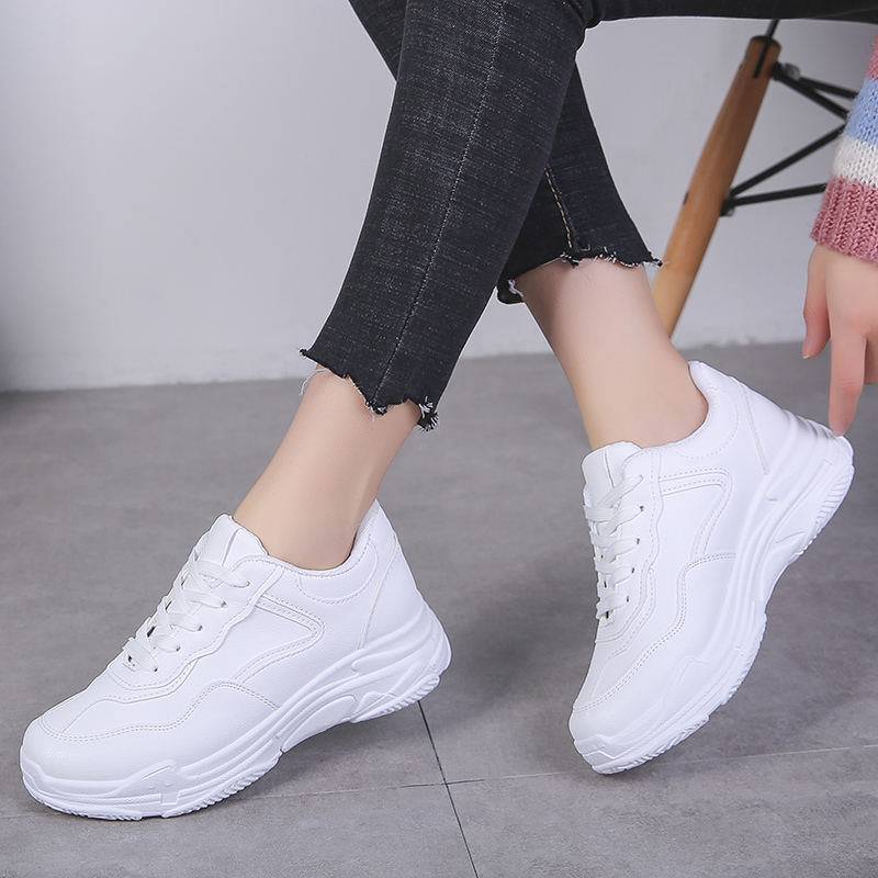 Fashion Women Casual Shoes   Suede     Leather   Plush Platform Shoes Women Sneakers Ladies White Trainers Chaussure Femme Plus Size