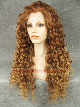 N18-30/27HR Stunning Curly Synthetic Lace Front honey blonde Wig Rupaul Wig