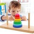 Башня ханоя Обучающие Деревянные Игрушки Классические Математические Головоломки Игрушка для Детей, чтобы Развивать Интеллект