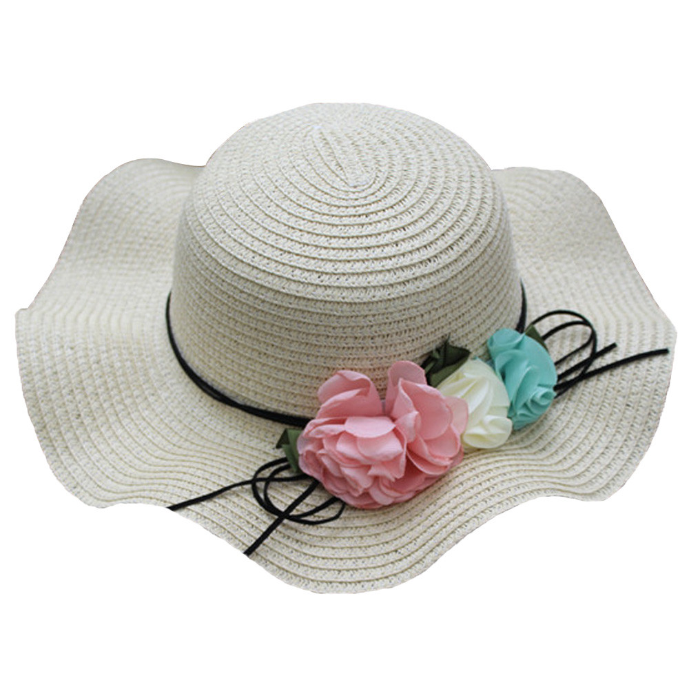 New Fashion Design Summer Baby Flower Breathable Hat Straw Sun Hat Kids Hat Boy Girls Hats Cute High Quality Gift