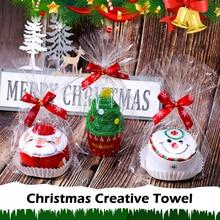 30x30 см полотенце в подарок к Рождеству Рождественская елка Санта Клаус Рождественский Снеговик белый зеленый красный счастливый год держатели для подарков