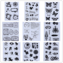 Bear Heart Flowers Transparent Clear Stamp DIY Silicone Seals Scrapbooking Card Making Photo Album Decoration Supplies Stamping