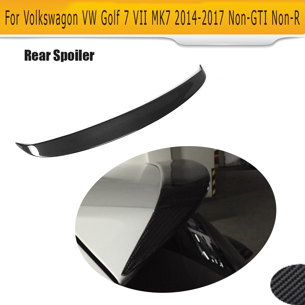 <font><b>Carbon</b></font> Fiber rear roof boot lip <font><b>spoiler</b></font> wing For Volkswagen VW standard <font><b>Golf</b></font> <font><b>7</b></font> MK7 Standard 2014-2017 Non GTI image