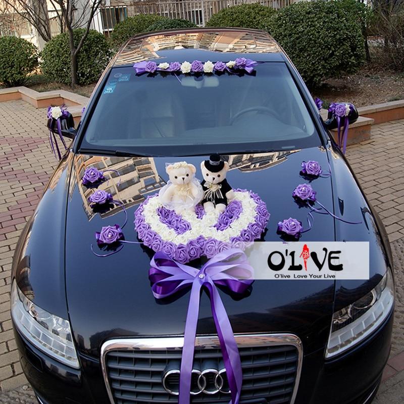 Artificial Flowers Wedding Car Decoration Sets Wedding ...