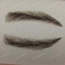 hand made human hair false eyebrow 014 black color handtied