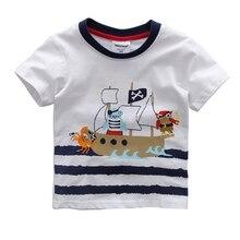 Children's T-Shirt Boys T-shirt Summer Shirt Cotton O-Neck Short Sleeves Tees Cartoon Print Clothes Plus Size LL4
