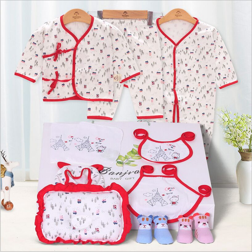 100% Cotton Newborn Baby Clothes Set Spring and Summer Character Baby Girl Clothes O-Neck Long Sleeve Baby Set Baby Clothe