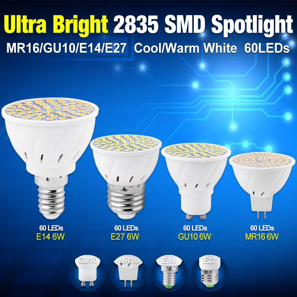 Lights & Lighting Just 2018 Tsleen Super Bright 6w Gu10 E27 E14 2835smd Led Bulb Spotlight Setting Lamps Warm/cool White Spotligh