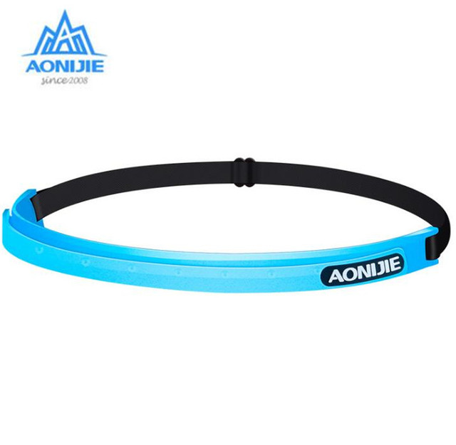 AONIJIE Sports Sweatband Women Men Silicone Breathable Quick Dry Fitness Yoga Hair Bands Gym Guiding Belt Sweat Head
