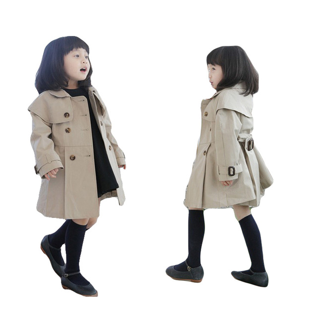 7ae47fdbb768 INS Baby Toddler Boy s Girl s Long Sleeves Khaki Outwear Coat Trench ...