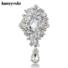 Top quality Magnificent Bridal Large crystal Brooches for women rhinestone brooch fine jewelry summer style ornamentation
