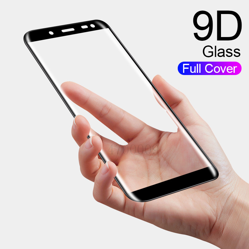 Full Curved Tempered Glass For Samsung Galaxy A6 A8 J4 J6 J8 Plus 2018 Screen Protector For Samsung A5 J5 2017 Protective Film