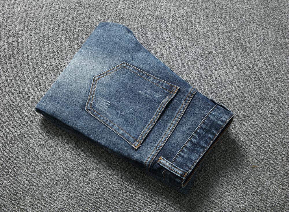 TANGYAXUAN 2019 Runway Distressed Slim Elastic   Jeans   Hip Hop Washed Skateboard Trouers Streetwear