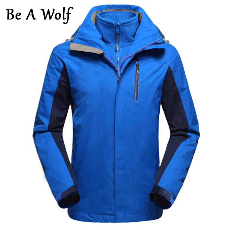Be A Wolf Outdoor HiKing Softshell Jacket Men Windproof Waterproof Male Hiking Camping Heated Fleece Jackets Female Clothing