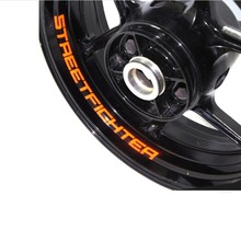 A set of 8pcs high quality Motorcycle Wheel Sticker Decal Reflective Rim Bike Motorcycle Suitable for Triumph STREETTRIPLE