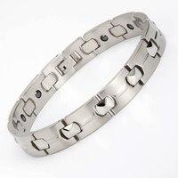 316l Stainless Steel 6 Pieces Pure Germanium Bracelet Men Silver Friendship Bracelets Sandblasting New Arraval 2015