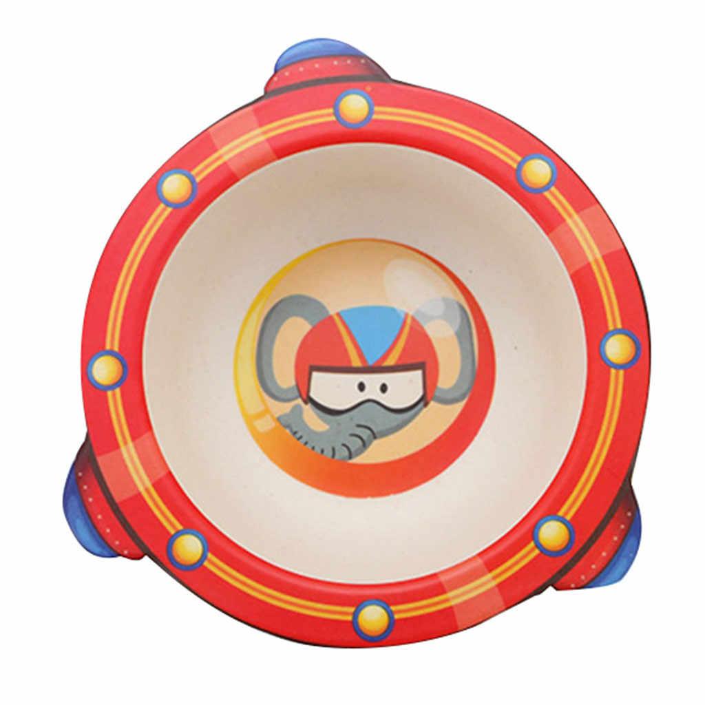 """במבוק סיבי ילדי של קריקטורה קערת סביבתי הגנת תינוק סכו""""ם האכלת תינוק מזון מנות קערת cuchara bebe comida"""