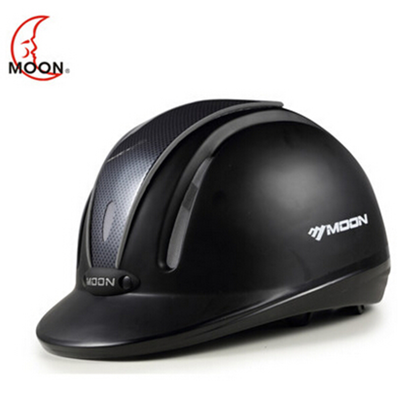 MOON Equestrian Helmet Horse Riding Helmet Outdoor Sports Equipment Black Breathable Protective Helmet MS09 men women professional equestrian horse riding helmet breathable durable safety half cover horse rider helmets