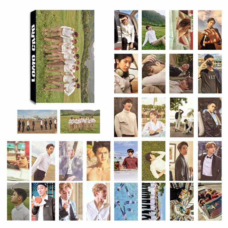 30Pcs/Set KPOP EXO Album Self Made Paper Lomo Card Photo Card Poster Photocard Fans Gift Collection