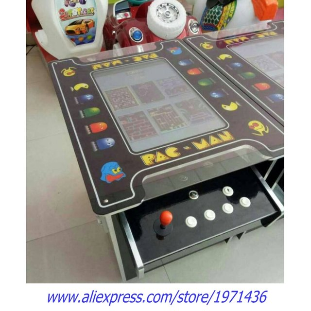 European Like PAC MAN Cocktail Table Mini Coin Operated Video Arcade Cabinet  Game Machine