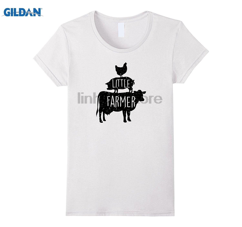 GILDAN LITTLE FARMER cow pig chicken silhouette - Stock Show Kids Mothers Day Ms. T-shirt