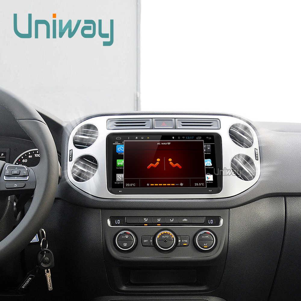 Uniway ADZ9071 Octa Core IPS Mobil DVD untuk VW Passat B6 B7 Golf 5 6 Tiguan POLO Octavia Cepat Fabia multimedia Navigasi Pemain