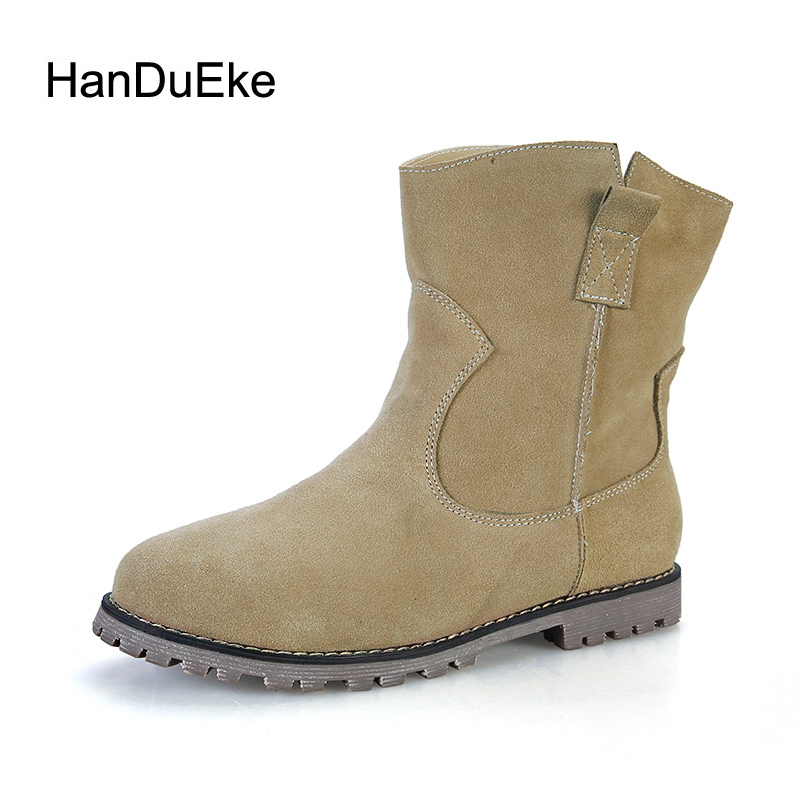 Size 34-43 Autumn 2017 New 3 Colors Boots Winter Keep Warm Plus Fur Women's Boots Genuine Leather Flat MartinBoots rabbit hair lady autumn winter new weaving small pineapple fur hat in winter to keep warm very nice and warm comfortable