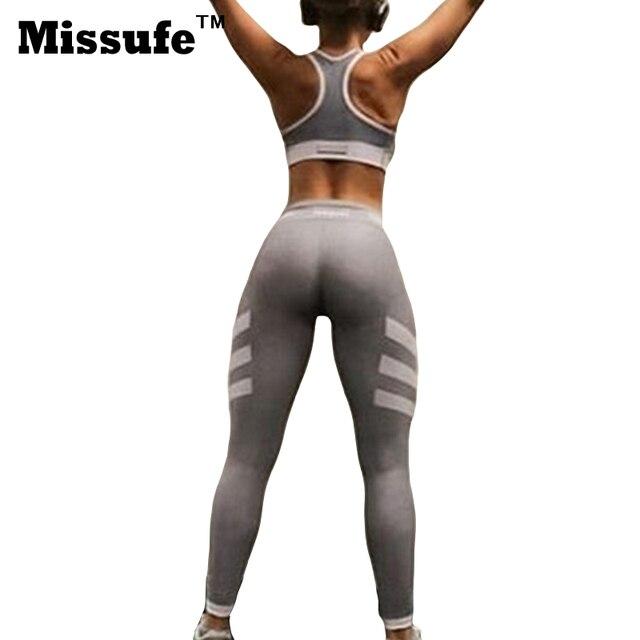 Missufe Отпечатано Тонкий Спортивные Женщины Леггинсы 2017 Сексуальная Тощий Высокого Стретч Упражнение Карандаш Брюки Bodycon Леггинсы Для Женщин